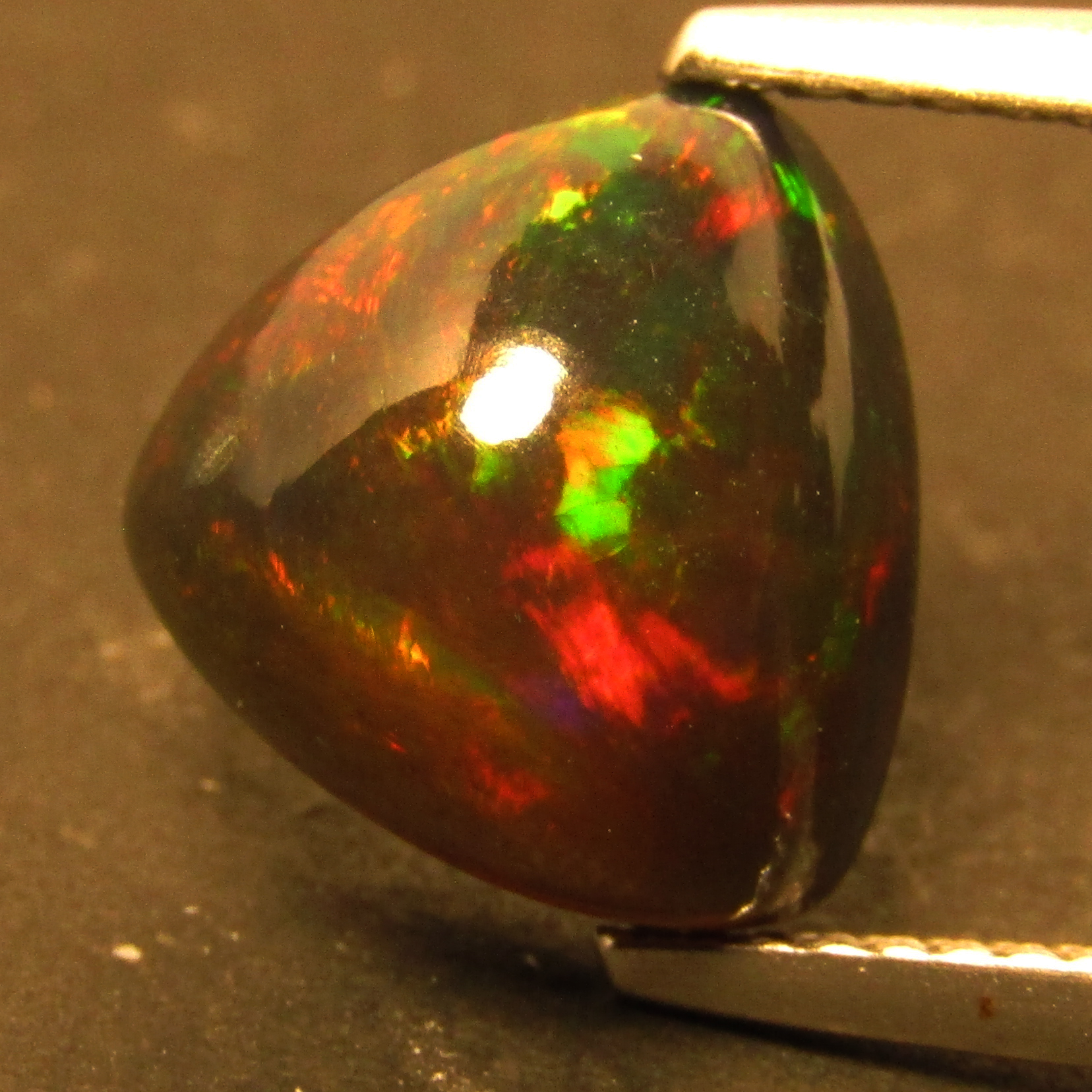 32.65 cts natural gemstone Ethiopian color play opal free form polished tumbled dazzling fire excellent color play AAA